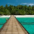 Jetty to a beautiful untouched beach — Stock Photo #26125153