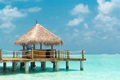 Beach cabana — Stock Photo