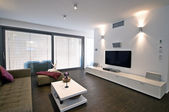 Home Theater interior design — 图库照片