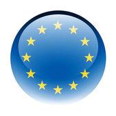 Aqua Button Europe — Stock Photo