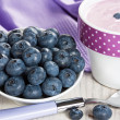 Stock Photo: Blueberry and yogurt