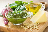 Pesto sause — Stockfoto