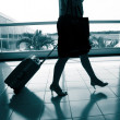 Stock Photo: Bags at the airport, motion blur