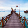 Serenity Boardwalk at tropical island — Stock Photo #16025167