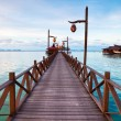 serenity boardwalk at tropical island — Stock Photo