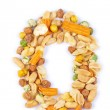 Number made from nuts — Stock Photo #16028843