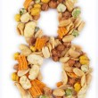 Number made from nuts — Stock Photo