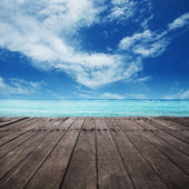 Platform beside sea — Foto de Stock