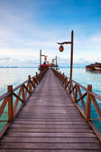 Serenity Boardwalk at tropical island — Stok fotoğraf