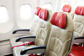 Seat in airplane — Stock Photo