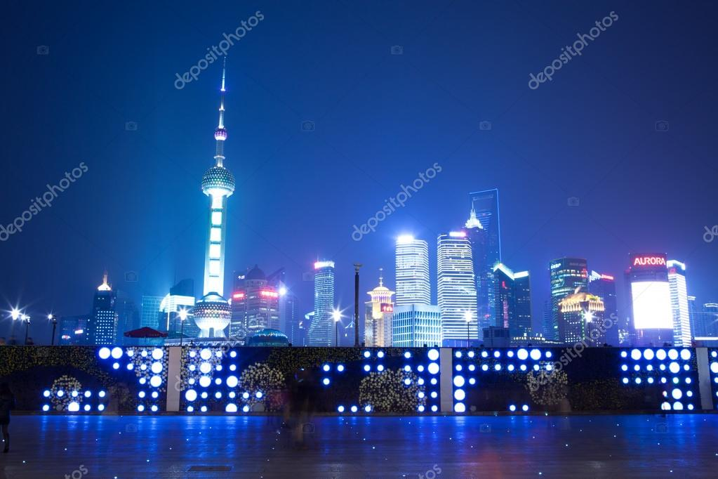 Night scene of shanghai — Stock Photo #16029381