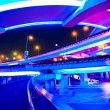 Junction with light in shanghai - Stock Photo