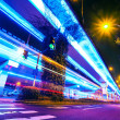 Junction with light in shanghai — Stock Photo
