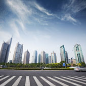 Panoráma města moderní, šanghaj — Stock fotografie