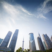 Three skyscrapers, business center in shanghai — Stock Photo
