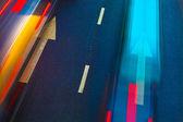 Autopista con un montón de coches — Foto de Stock