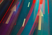 Motorväg med massor av bilar — Stockfoto