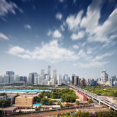 Landscape of modern city ,China — Stock Photo