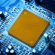 Electronic circuit close-up. Macro background — Stockfoto