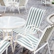Chair in coffee bar outdoor — Stock Photo