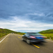 High speed road with cloud — Stock Photo