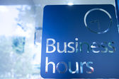 Business hours — Stock Photo