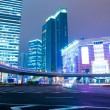 Night scene of modern city - Stockfoto