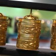 Stock Photo: Buddhist prayer wheels