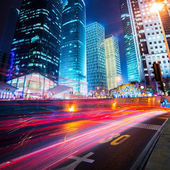 Night scene of modern city — Foto Stock