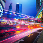 Night scene of modern city — Stock Photo