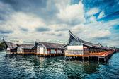 Sopra bungalow dell'acqua — Foto Stock