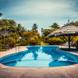 Tropical seaside hotel  — Stock Photo