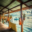 Over water bungalow — Foto Stock