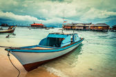Boat stop on the water — Stock Photo