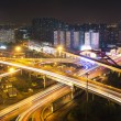 Overpass with motion light — Stock Photo