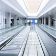 Escalator in airport — Stock Photo