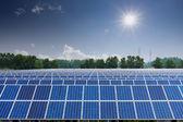 Painéis de energia solar — Fotografia Stock