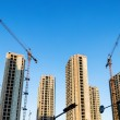 Under construction of buildings — Stock Photo