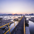Wharf of Qiantang river — Stock Photo