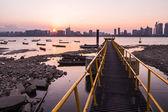Muelle del río qiantang — Foto de Stock