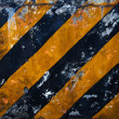 Black Yellow Hazard Stripes — Stock Photo