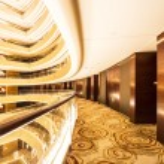 Corridor of modern buildings — Stock Photo #30524923