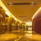 Corridor of modern buildings — Stock Photo
