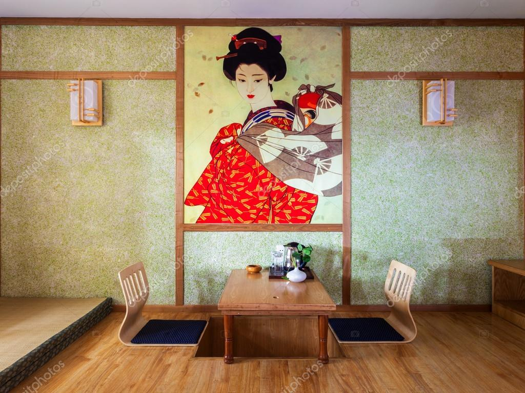 Japanse stijl kamer interieur — stockfoto © zhudifeng #30733161