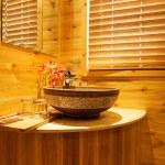 Natural style bathroom — Stock Photo