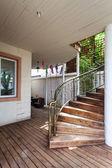 Escalera de caracol de madera — Foto de Stock