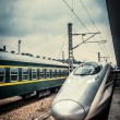 The train in the station — Stock Photo