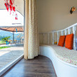 Veranda of the hotel — Stock Photo