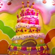 Big cake in Candy World — Foto de Stock
