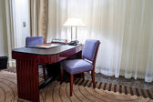 Writing desk in the room — Stock fotografie